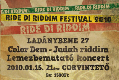 Ride di Riddim - 15 Jan 2010
